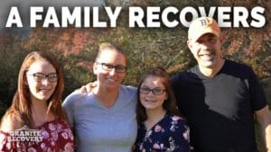 Amber with family shares addiction recovery story