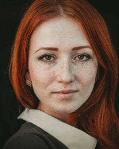 red haired woman portrait