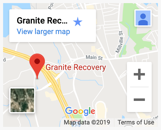 map of Granite Recovery Centers on Google Maps