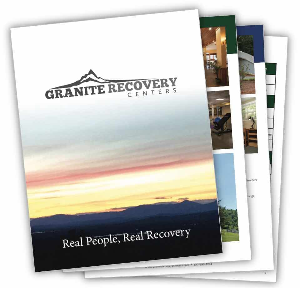 stack of granite recovery centers brochures