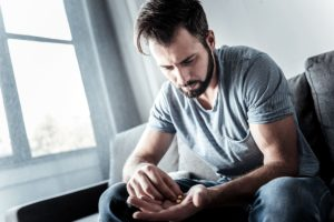 man is dealing with relapse